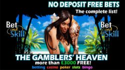 No Deposit Free Bets for Sports Betting, Casino & Slots