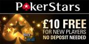 PokerStars £10 no deposit bonus to play Spin and Go