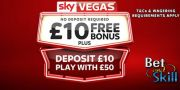 Sky Vegas: £10 FREE Casino Welcome Bonus (no deposit required)