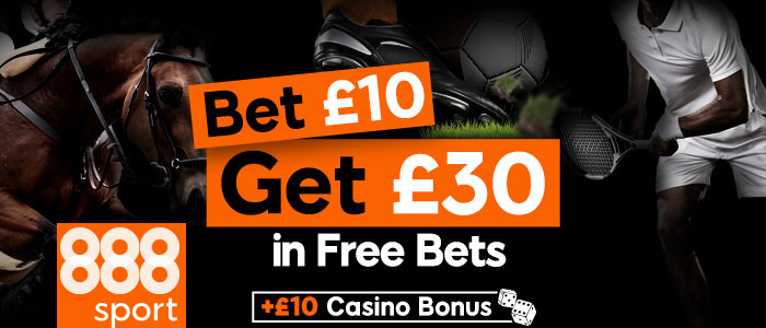 888sport bet £10 get £30 in free bets